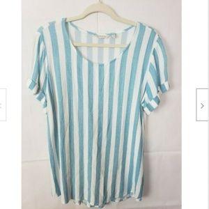 Soft Surroundings Striped Blouse Size L